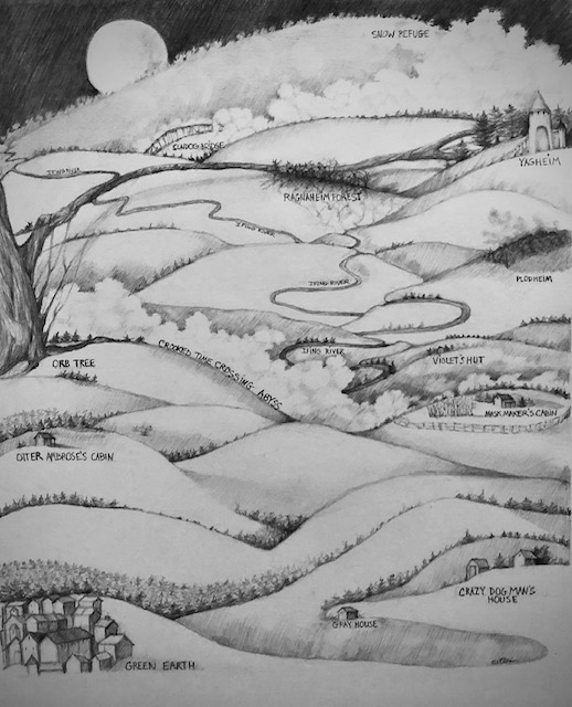 Map of Sam Ambrose's journey